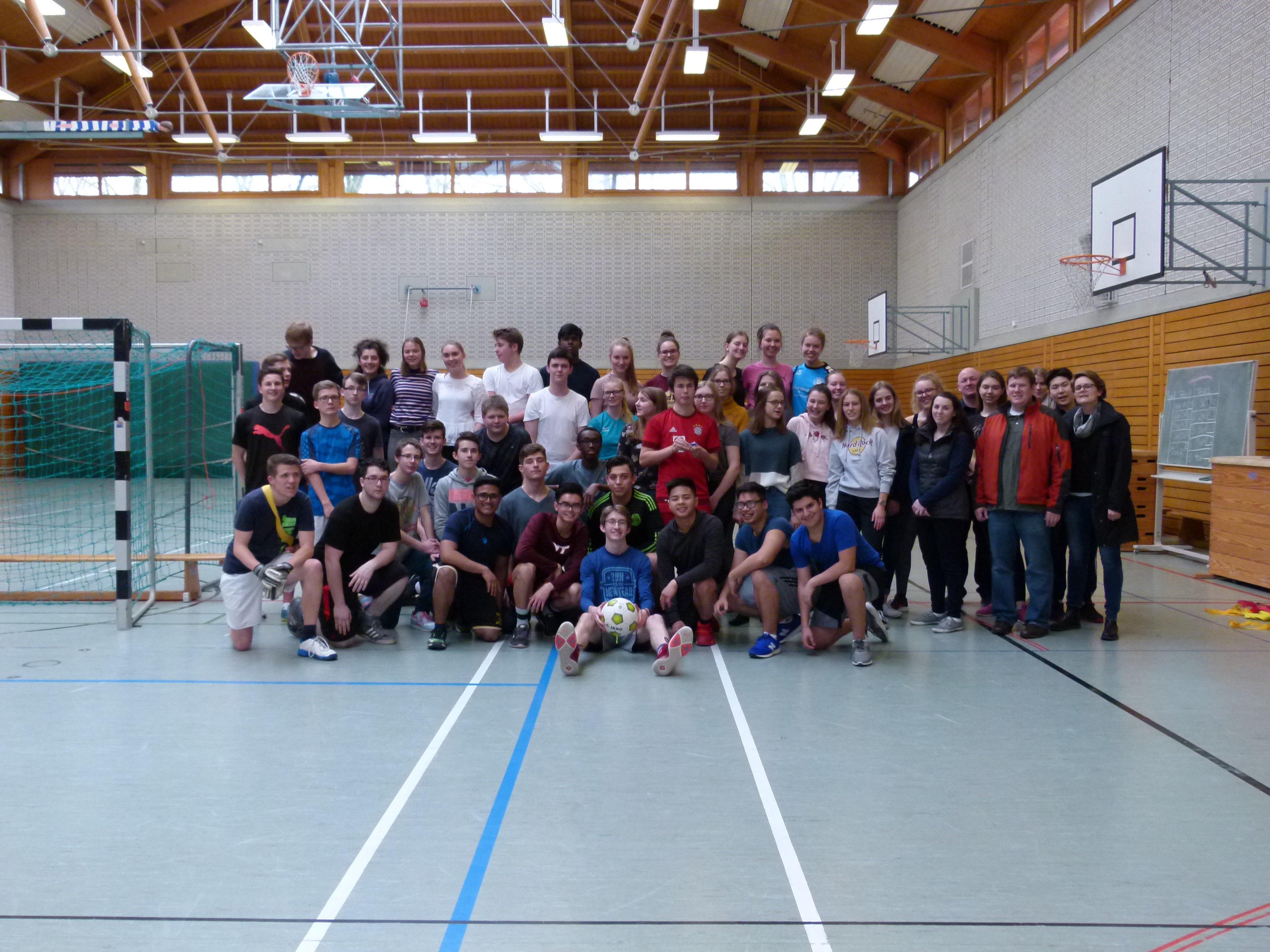 Fußballturnier mit den amerikanischen Austauschschülern!